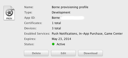 provisionning profile