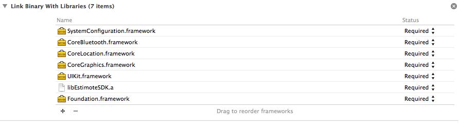 estimote-frameworks