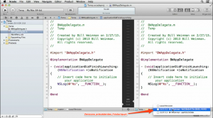 XCODE-GIT CHANGEMENTS PRECEDENTS