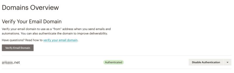 Mailchimp authetification DKIM