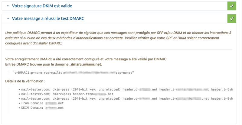 DKIM mail tester
